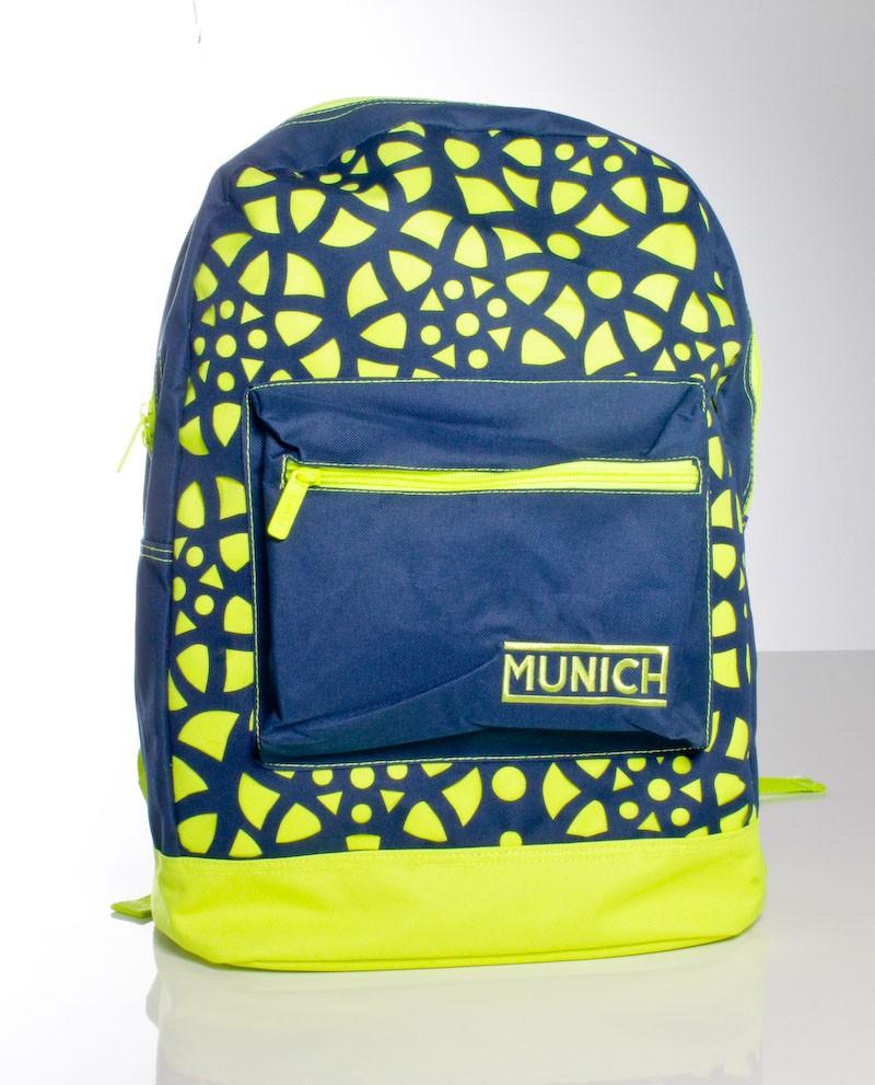 mochila escolar azul marino firma Munich